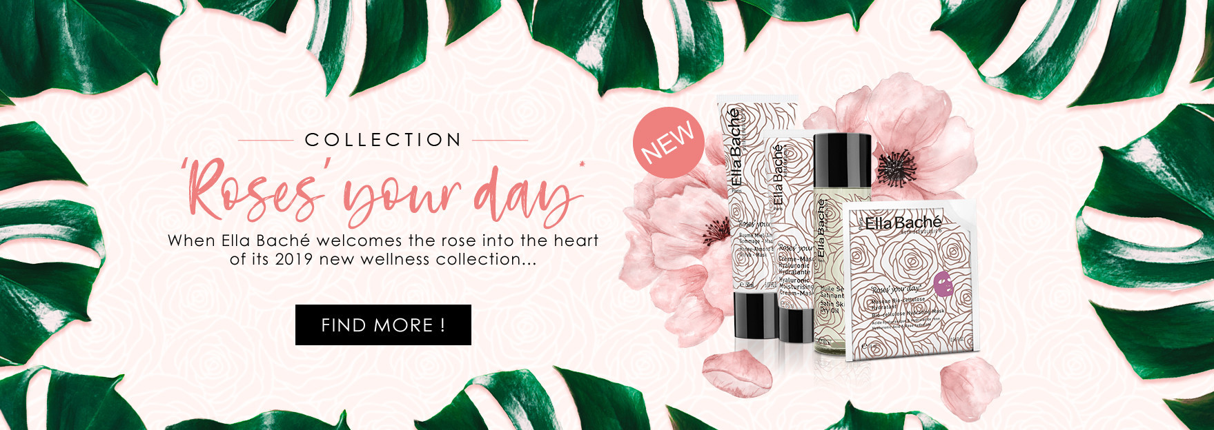 Discover our new  wellness collection with rose fragrance